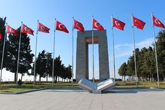 Monumento de los mártires fotografía de archivo