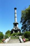 Monumento de los soldados en la colina de la batalla en el cementerio de Bosque verde en Brooklyn Fotografía de archivo libre de regalías