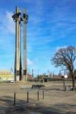 Monumento de los trabajadores caidos 1970 del astillero Imagenes de archivo
