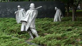 Monumento de los veteranos de Guerra de Corea, Washington DC, los E.E.U.U. metrajes