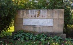 Monumento de Ludwig van Beethoven, Piestany, Eslovaquia imagen de archivo