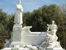 Monumento de mármol de Arezzo Imagen de archivo libre de regalías