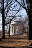 Monumento de mármore da guerra mundial na alameda em Washington D C Fotos de Stock