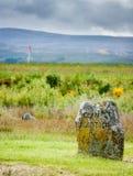 Monumento de Macklintosh del clan en el campo de batalla de Culloden fotos de archivo