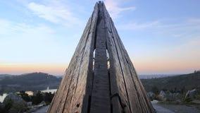 Monumento de madera Imagen de archivo libre de regalías