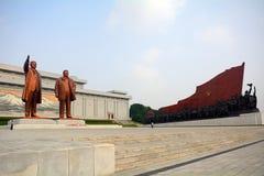 Monumento de Mansudae, Pyongyang, Norte-Corea Foto de archivo