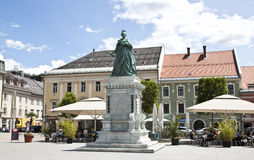 Monumento de Maria Theresa em Neuer Platz, Klagenfurt Imagem de Stock Royalty Free