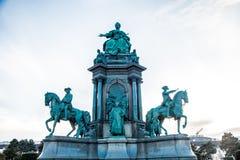 Monumento de Maria Theresa em Viena, Austrália imagens de stock royalty free