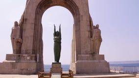 Monumento de Marsella de la puerta de Oriente almacen de video