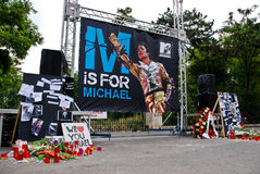 Monumento de Michael Jackson Imagenes de archivo