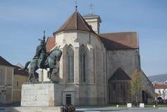 Monumento de Mihai Viteazul, Iulia Alba Imagenes de archivo