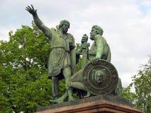 Monumento de Minin & de Pozharsky Fotos de Stock Royalty Free