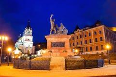Monumento de Minin e de Pozharsky em Nizhny Novgorod, Rússia fotografia de stock royalty free