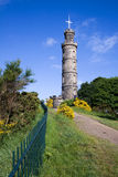 Monumento de Nelson, colina de Calton, Edimburgo Imagen de archivo