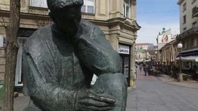 Monumento de Nikola Tesla em Zagreb, Croácia filme