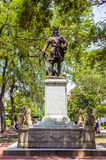 Monumento de Oglethorpe no quadrado do Chippewa no savana Imagem de Stock Royalty Free