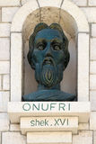 Monumento de Onufri o de Onouphrios de Neokastro en Berat, Albania fotografía de archivo libre de regalías