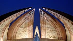 Monumento de Paquistão fotografia de stock