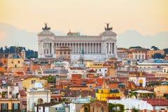 Monumento de Patria del della de Altare en Roma Imágenes de archivo libres de regalías