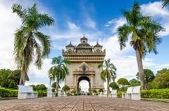 Monumento de Patuxai em Vientiane, Laos Imagem de Stock Royalty Free