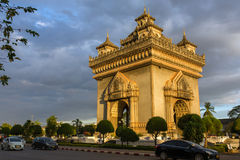 Monumento de Patuxai en Vientián, Laos Imágenes de archivo libres de regalías