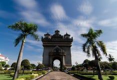 Monumento de Patuxay Imagens de Stock