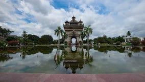 Monumento de Patuxay imagenes de archivo