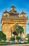 Monumento de Patuxay em Vientiane, Laos Fotos de Stock