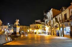 Monumento de Philip II el Macedon en la ciudad de Bitola, el República de Macedonia Fotos de archivo