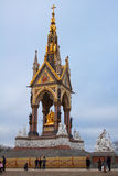 Monumento de príncipe Albert en Hyde Park foto de archivo libre de regalías