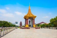 Monumento de rey Father Sihanouk, Phnom Penh foto de archivo libre de regalías