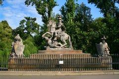 Monumento de rey Jan III Sobieski en Varsovia Imágenes de archivo libres de regalías