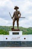 Monumento de rey Taksin el grande de Tailandia en el parque de Rajabhakti imagen de archivo libre de regalías