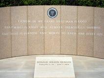 Monumento de Ronald Reagan Fotos de archivo libres de regalías