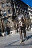 Monumento de Ronald Reagan em Liberty Square em Budapest fotografia de stock royalty free
