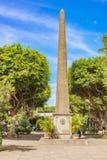 Monumento de Ruben Dario no Central Park em Granada, Nicarágua Fotografia de Stock