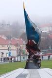 Monumento de sacrificios de la Segunda Guerra Mundial en un centro de Praga imágenes de archivo libres de regalías