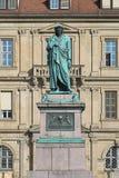 Monumento de Schiller en el Schillerplatz en Stuttgart, Alemania Imagen de archivo libre de regalías