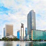Monumento de Selamat Datang Jakarta, Indonésia fotos de stock royalty free