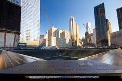 Monumento de sept. del 11 de NYC Foto de archivo libre de regalías