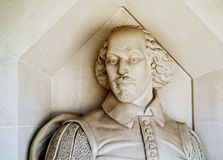 Monumento de Shakespeare foto de stock royalty free