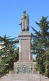 Monumento de Shota Rustaveli en Tbilisi Fotografía de archivo