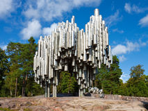 Monumento de Sibelius en Helsinki, Finlandia Imagen de archivo