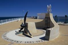 Monumento de Sikorski en Europa del punto de Gibraltar Imagenes de archivo