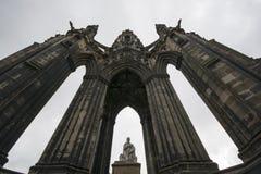 Monumento de sir Gualterio Scott Imágenes de archivo libres de regalías