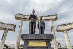 Monumento de Soekarno Hatta em Surabaya, Indonésia imagens de stock