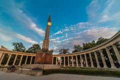 Monumento de soldados soviéticos de WW2 en Viena imágenes de archivo libres de regalías