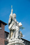 Monumento de St. John de Nepomuk (1729), Sforza Cas Foto de archivo