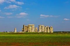 Monumento de Stonehenge em planos de Salisbúria fotos de stock royalty free