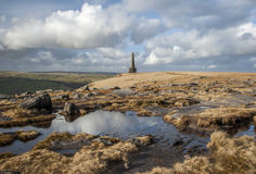 Monumento de Stoodley Pike, maneira do Pennine Fotografia de Stock Royalty Free